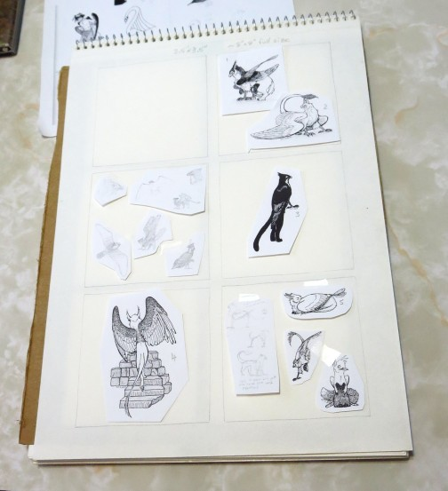 Book layout with first set of pages