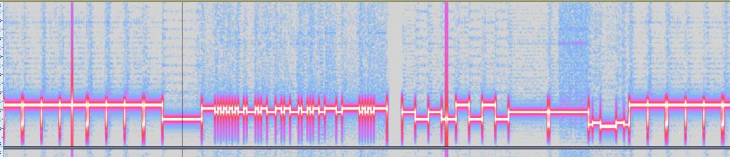 Screenshot of audio spectrogram